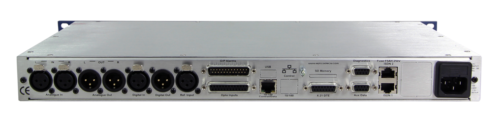 APT IP ISDN CODEC Rear panel