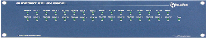 AUDEMAT RELAY PANEL (32 inputs) front