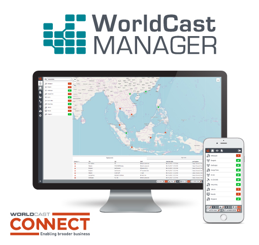 WorldCast Manager improves the monitoring of a network's connected equipment