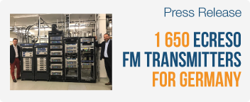 WorldCast Systems Delivers its 1,650th Ecreso FM Transmitter to Germany